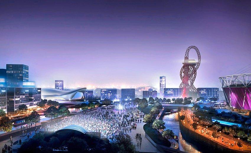 Лондонский Олимпийский парк в 2012 году - компьютерное моделирование