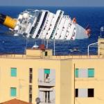 Costa Concordia превратил морской пейзаж в устрашающее зрелище