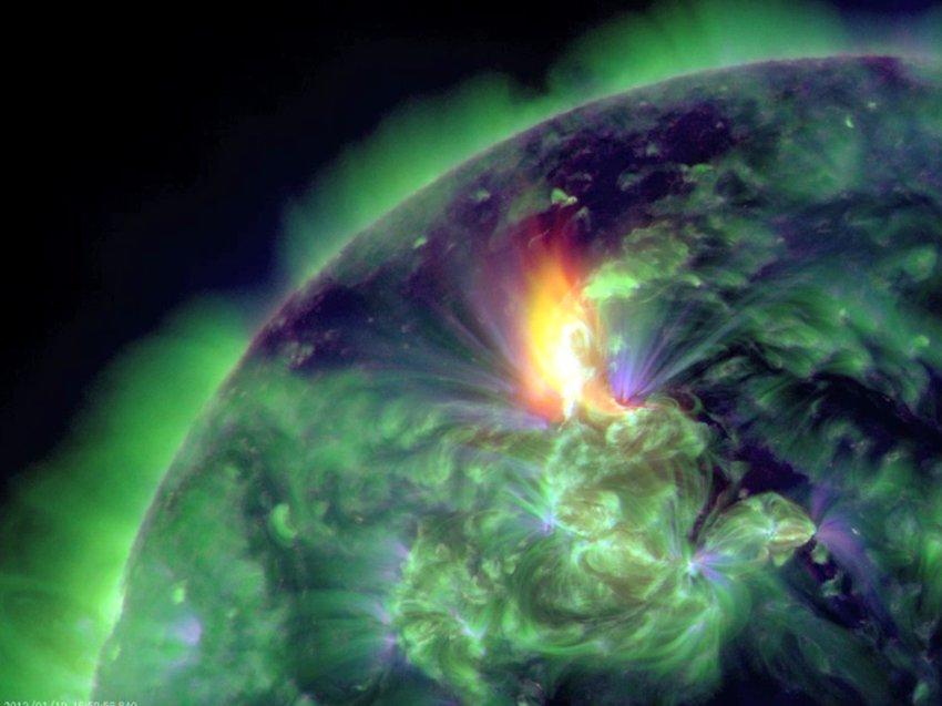 Солнечные вспышки 19 января