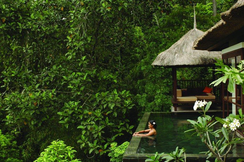 Ubud Hanging Gardens Hotel на Бали, бассейн в сердце джунглей