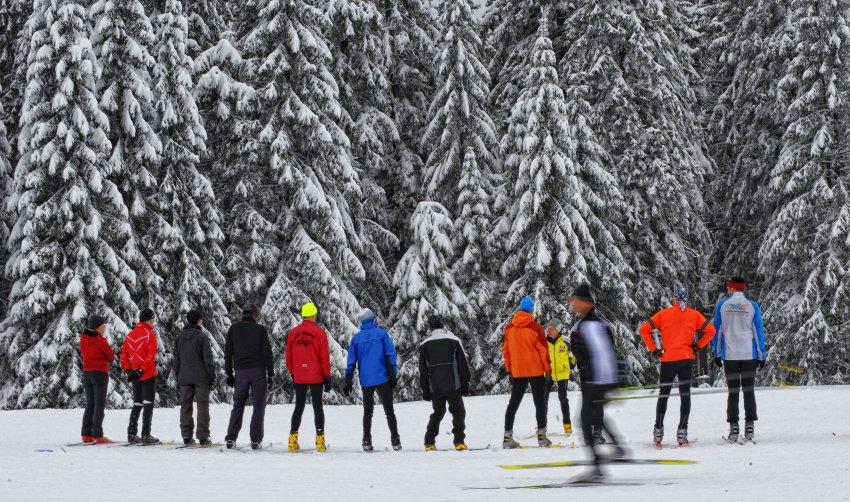 Лыжники на склонах Braunlage
