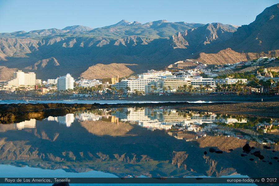 Плайя де лас Америкас - популярный курорт на юге острова Тенерифе