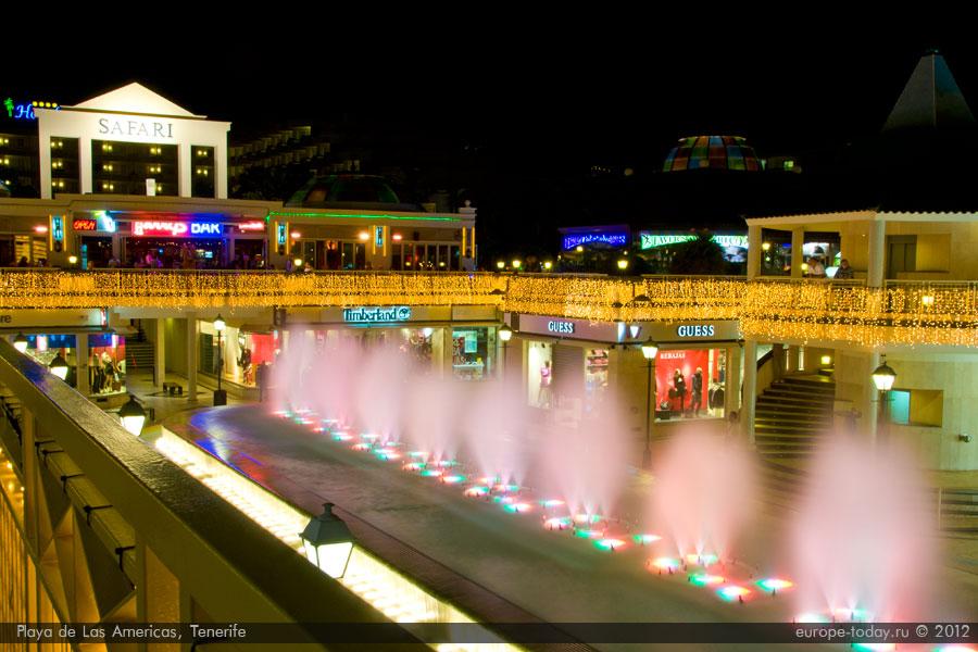 Поющий фонтан в Лас Америкас