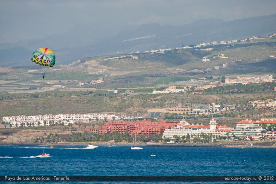 Полеты на парашюте за катером в Лас Америкас