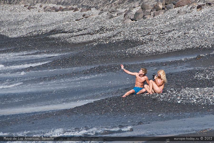на пляже в Лас Америкас