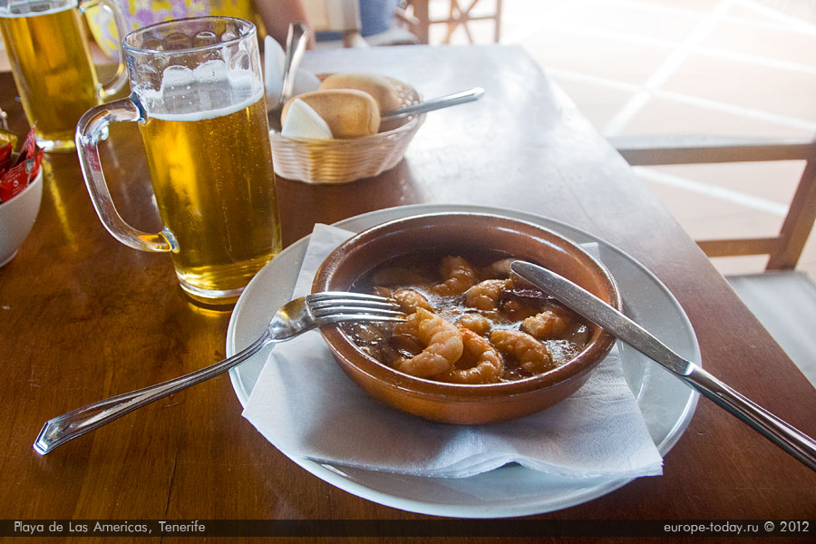 Креветки в кипящем масле с пивом
