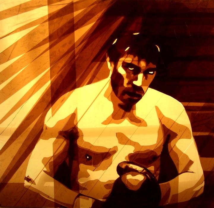 Искусство Макса Зорна из упаковочного скотча