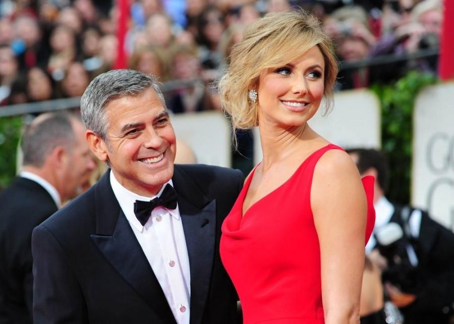 Джордж Клуни позирует со своей подругой Stacy Keibler