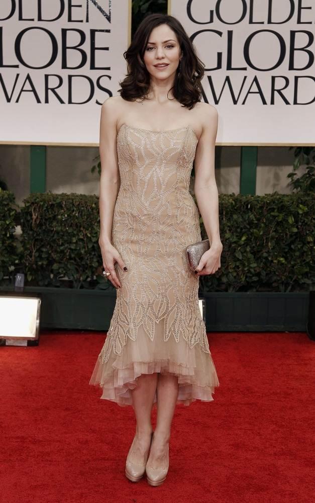Katharine McPhee, звезда Smash, предстала в шифоновом платье от Donna Karan