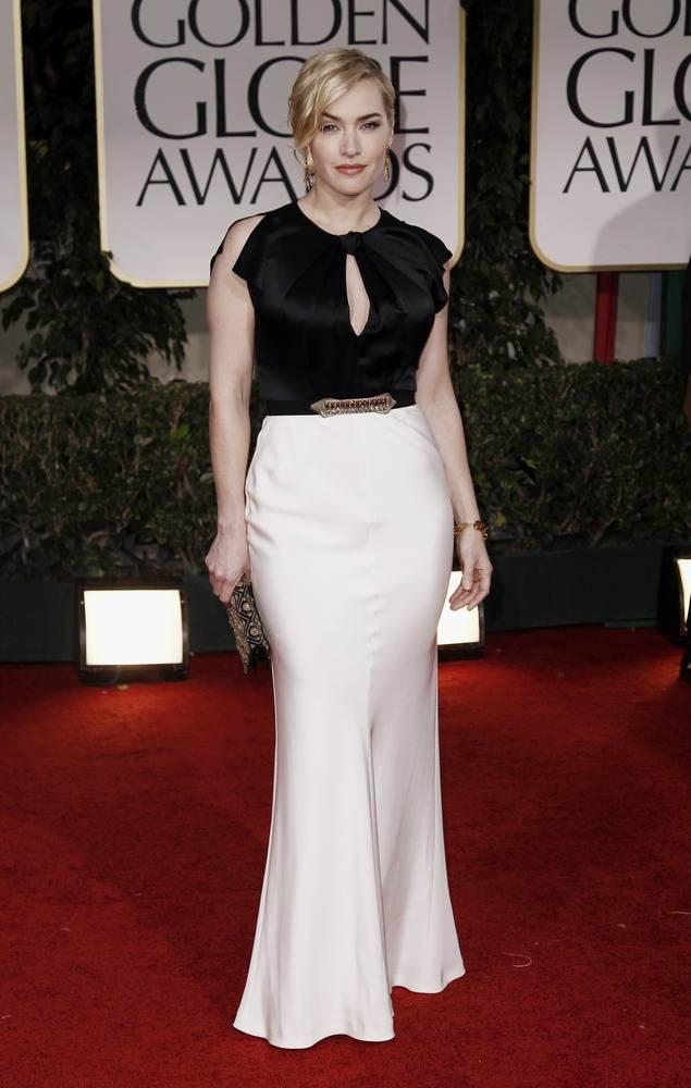 Кейт Уинслет в черно-белом наряде