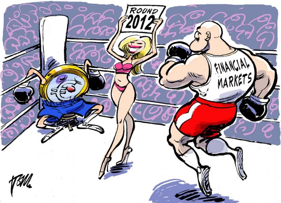 Раунд 2012 для евро отразил голландский карикатурист Том Янсен