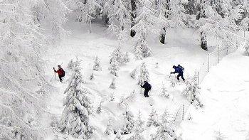 Горы засыпаны снегом