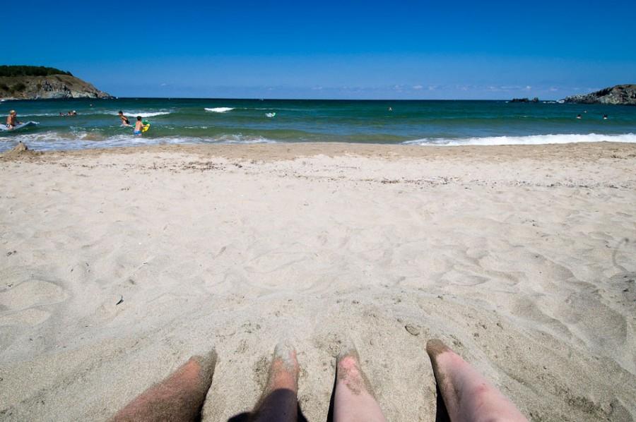 На болгарском пляже