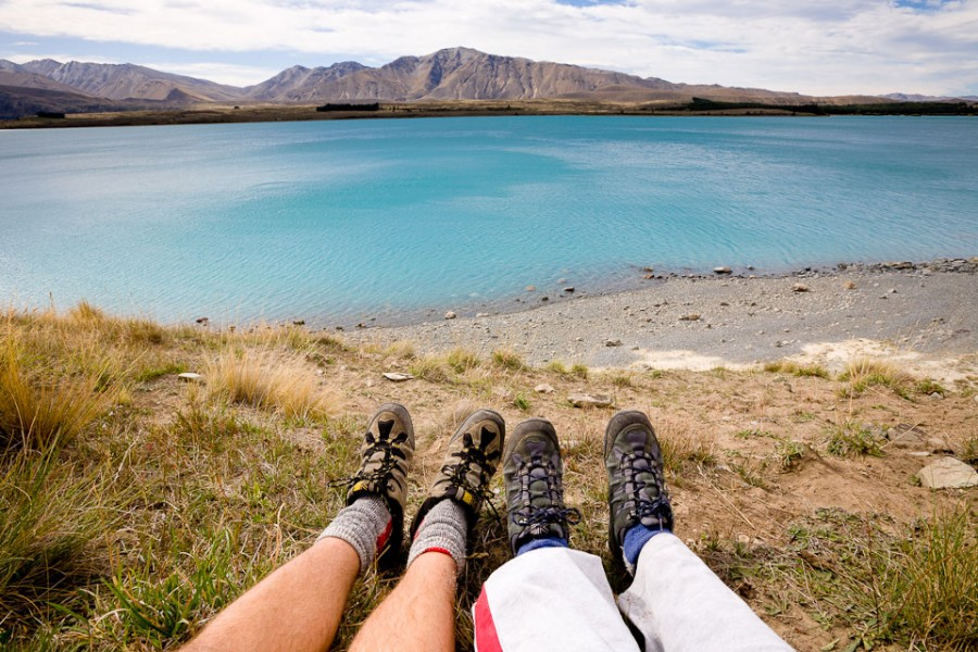 Озеро Tekapoв Новой Зеландии