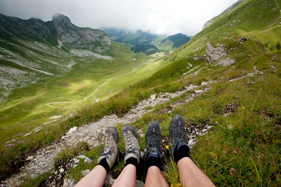 В швейцарских Альпах