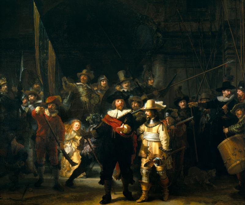 Ночной дозор, Рембрандт, 1642 год
