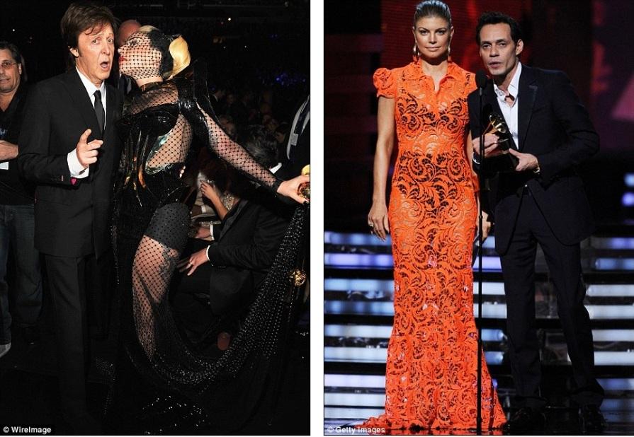 Ошеломительные наряды Lady Gaga и Fergie