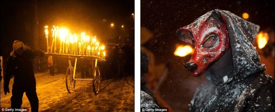 Колесница огня и языческие маски на фестивале