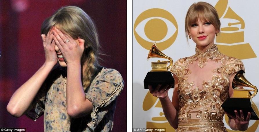 Taylor Swift позирует с наградой