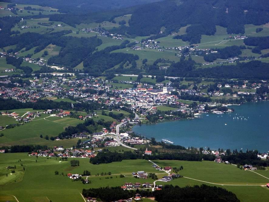 Mondsee в Австрии