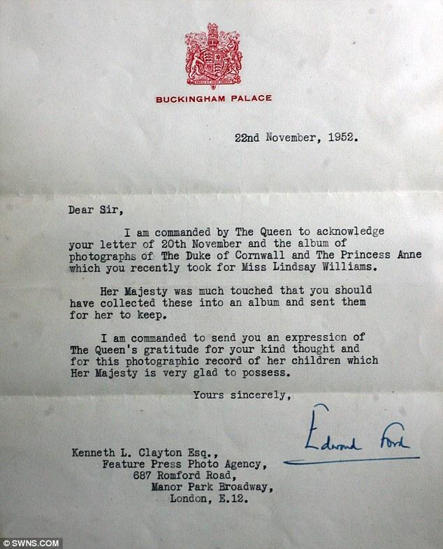 Благодарственное королевское письма