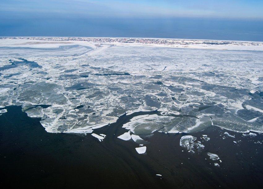Лед у острова Juist