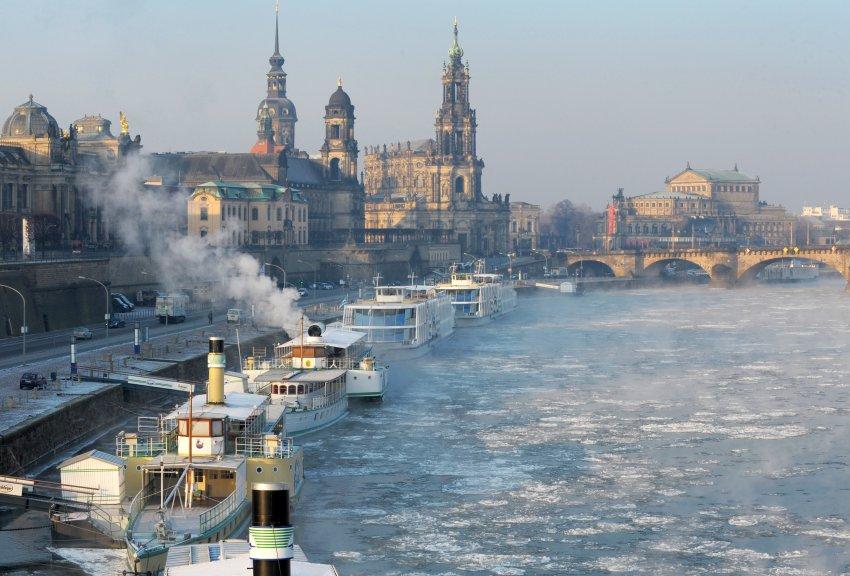Пароход в Дрездене