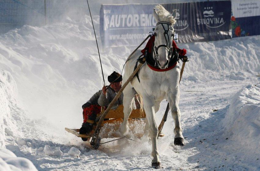 Снежная пыль на польско-словацкой границе