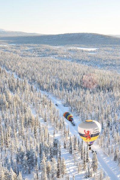 Взлетно-посадочная полоса в Лапландии