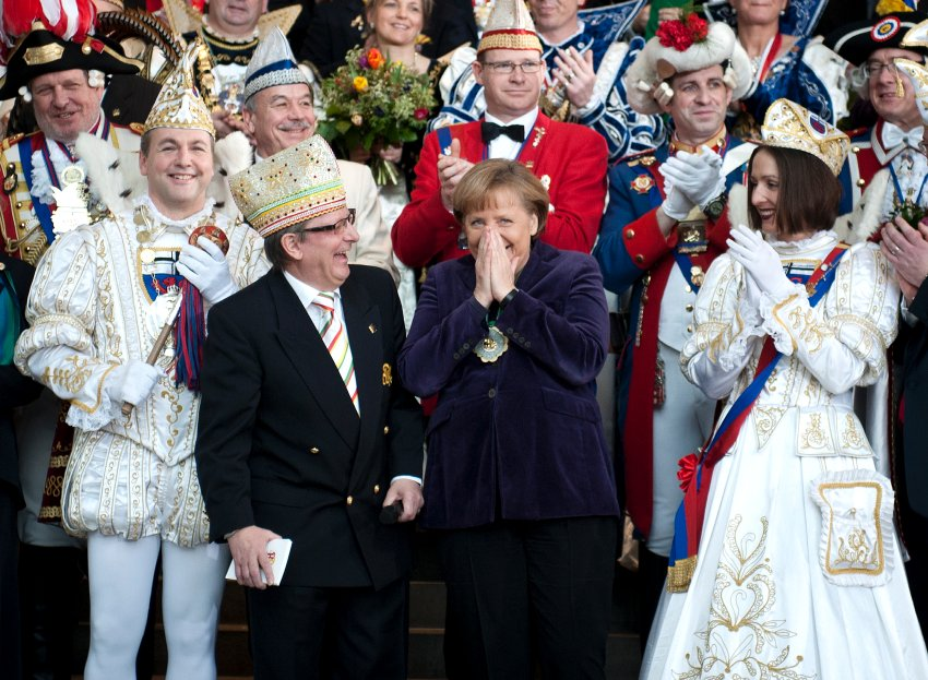 Ангела Меркель на Карнавале князей в прошлом месяце