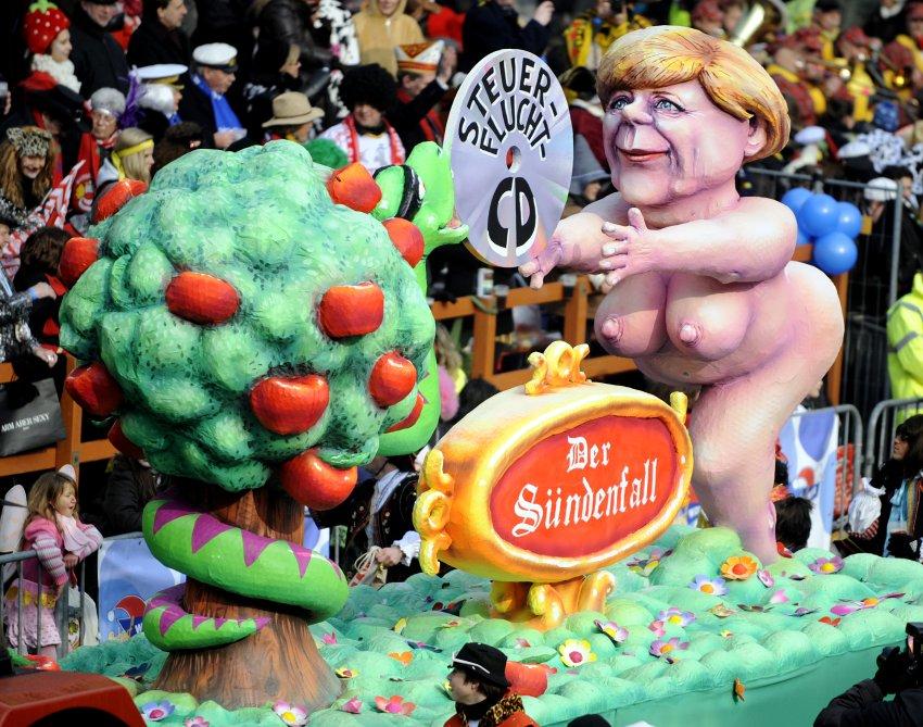 Ангела Меркель в Дюссельдорфе в 2010 году