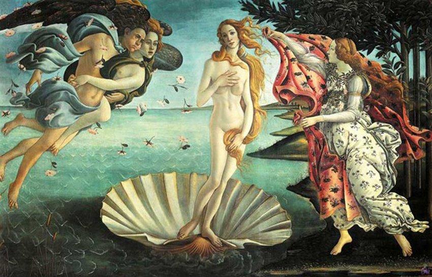 Похудевшая Венера Ботичелли