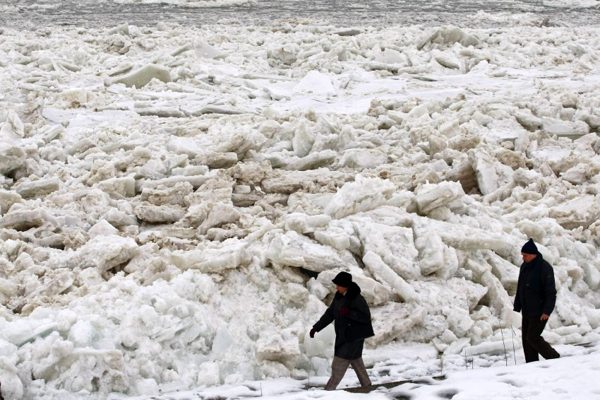Результат ледовой стихии - ущерб несколько сотен тысяч евро