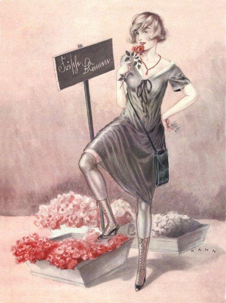 Работница секс-бизнеса, романтизированный образ Цветочница Г. Хан