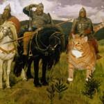 Конь Алеши Поповича перевоплотился на картине Три богатыря Виктора Васнецова