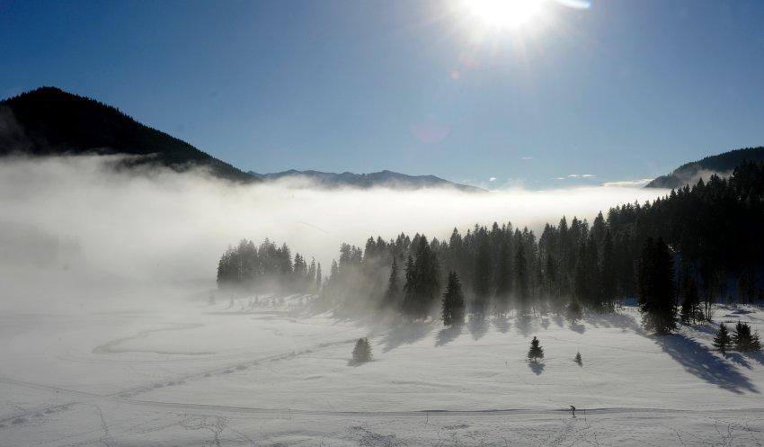 Лыжников в Восточный Альгой все больше привлекают санные трассы и конные поездки