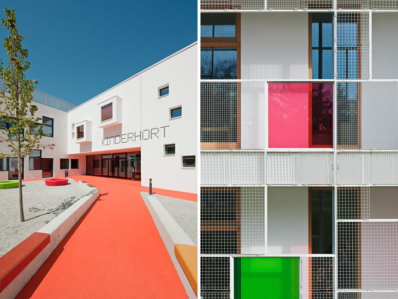 Яркие цвета фасада