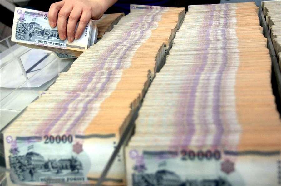 Банкноты, которые были изъяты из обращения, ожидают обработки в логистическом центре Национального банка Венгрии, в Будапеште, 7 февраля