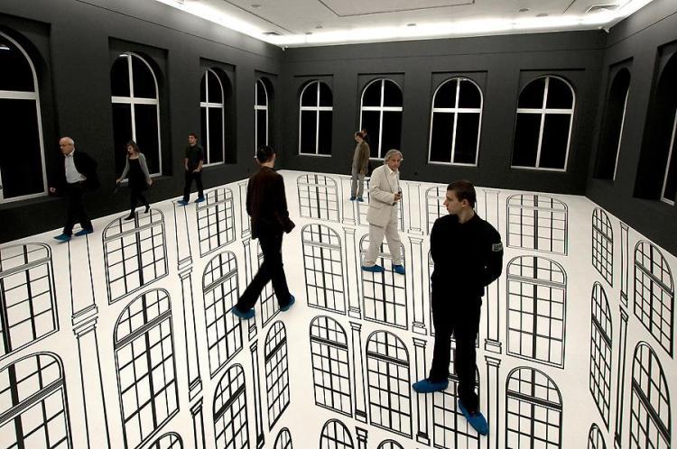 Желание покинуть центр комнаты преобладает у посетителей
