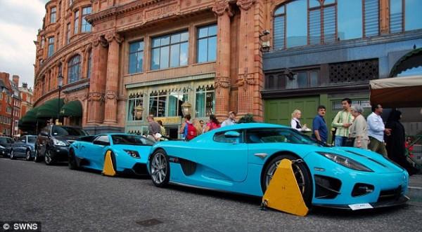 Катарские суперкары на улицах Лондона