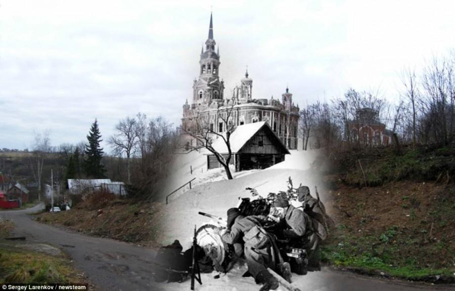 Советские солдаты в Можайске в 1941 году