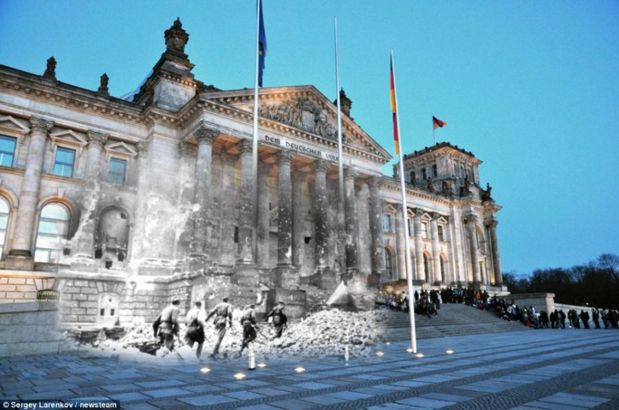 Штурм Рейхстага в 1945 году и день сегодняшний