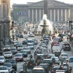 Автомобильный хаос в Париже
