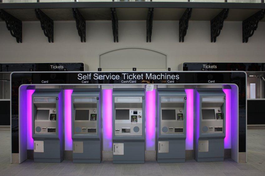 Новые автоматы для продажи билетов на  King's Cross