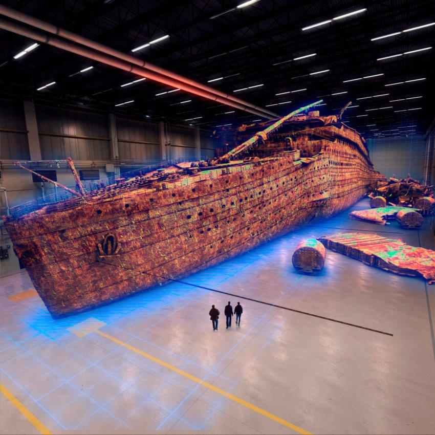 Компьютерная анимация крушения Титаника