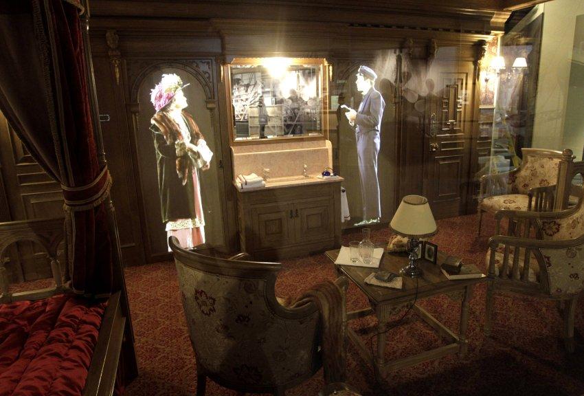 Голограмма виртуальных пассажиров салона первого класса Титаника