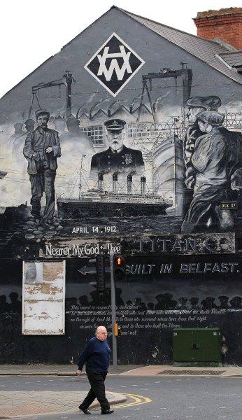 Фреска Титаник в Белфасте