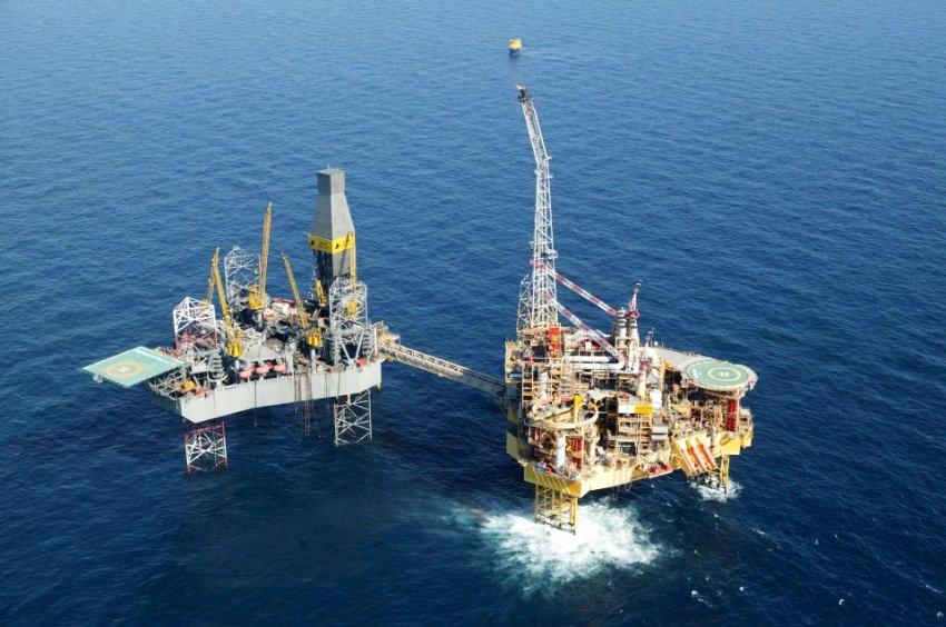 Платформа Элгин в Северном море