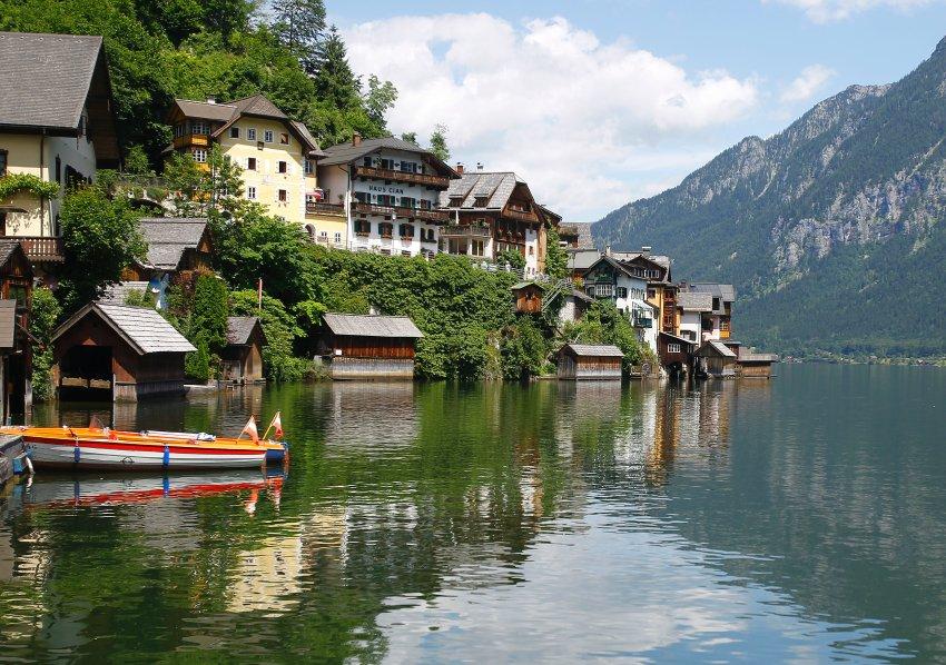 Hallstatt в Австрии