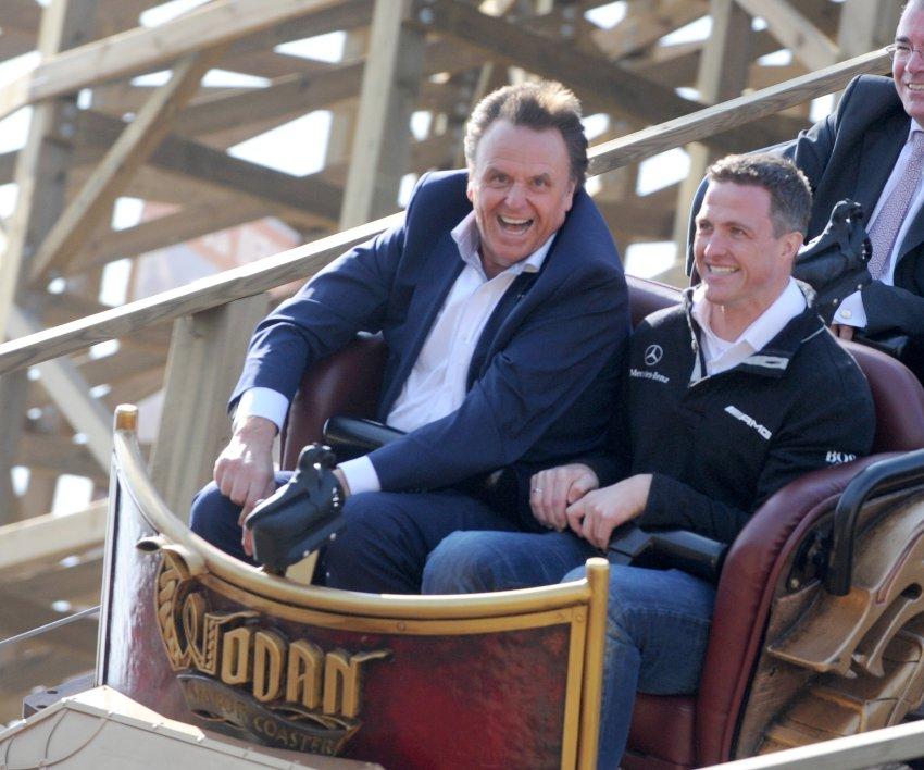 Ральф Шумахер и  Роланд Мак, управляющий директор Europa Park